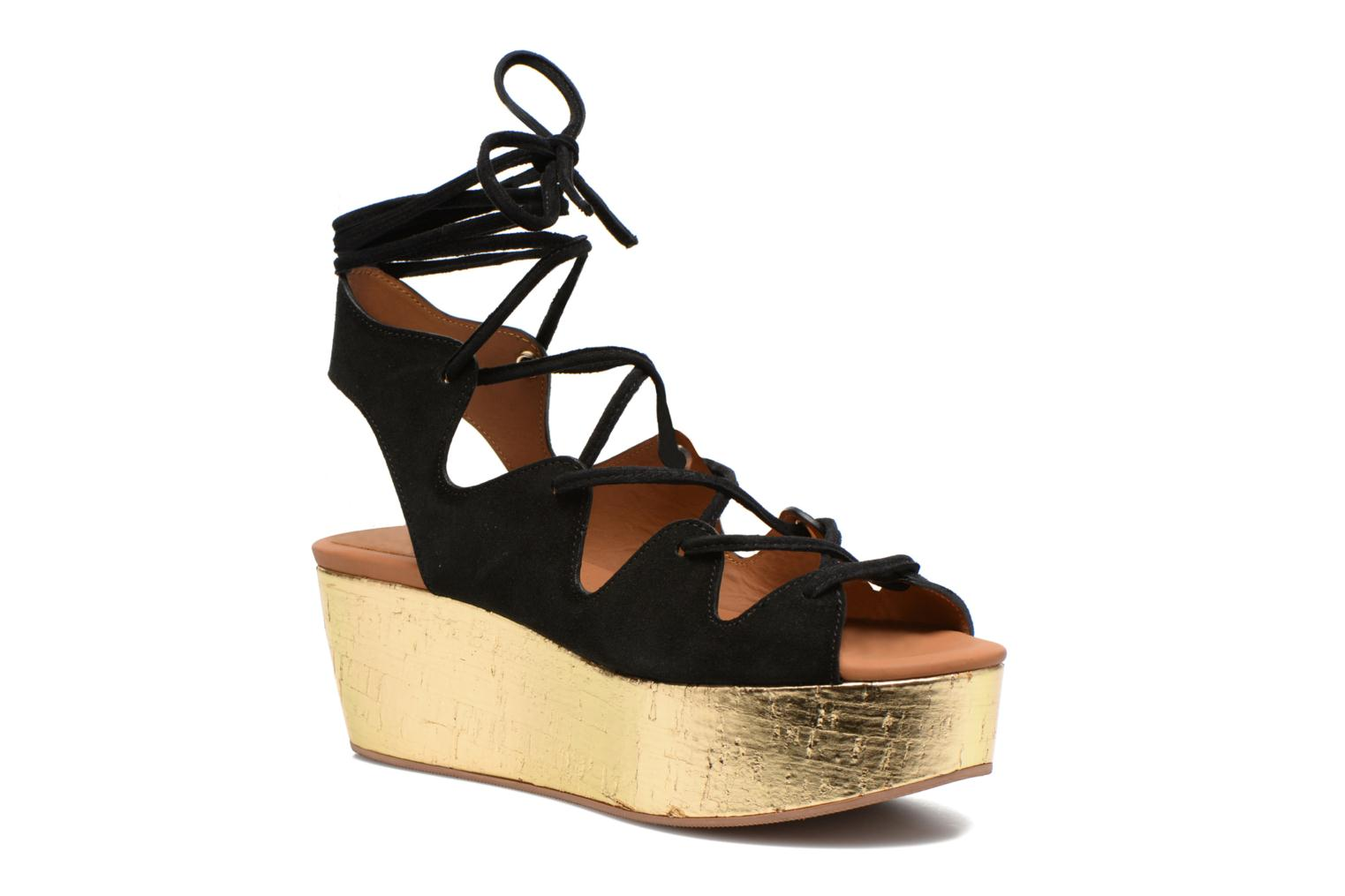 Sandals See by Chloé Ezima Black detailed view/ Pair view