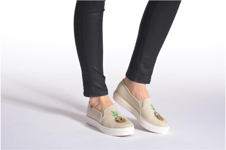 Sneaker Keds Triple decker beige ansicht von unten / tasche getragen