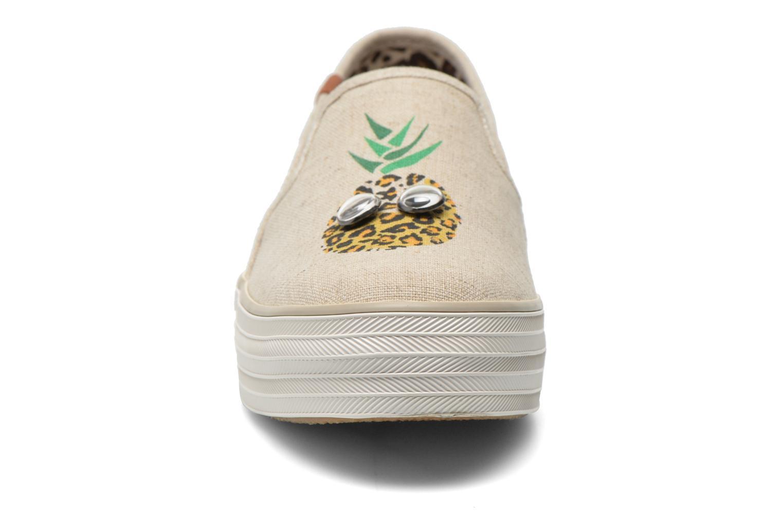 Sneaker Keds Triple decker beige schuhe getragen