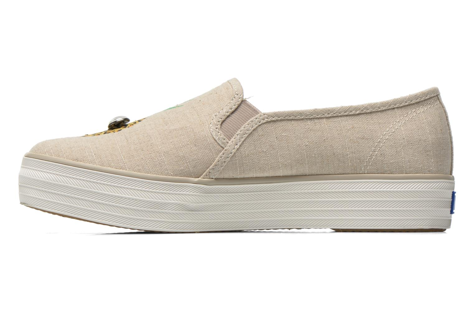 Baskets Keds Triple decker Beige vue face