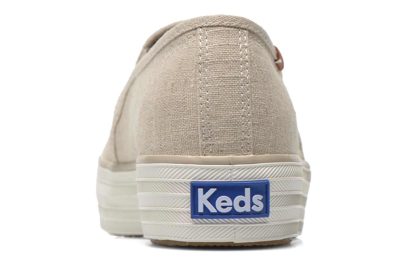 Sneakers Keds Triple decker Beige immagine destra