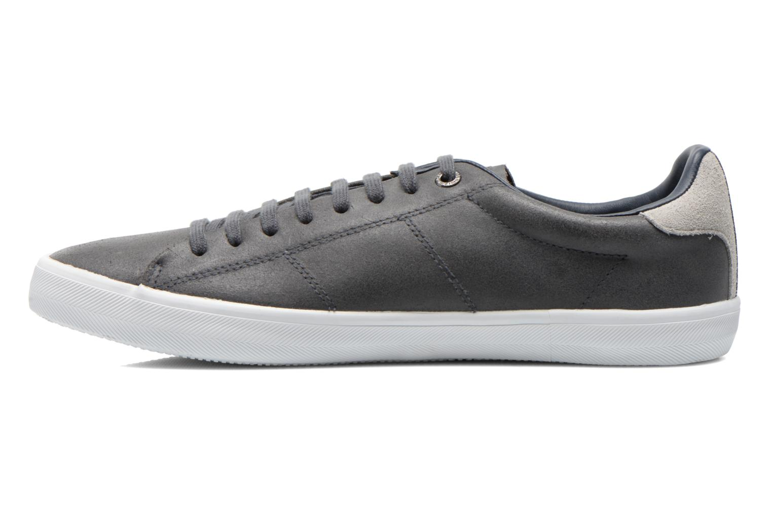 Baskets Fred Perry Howells leather Gris vue face