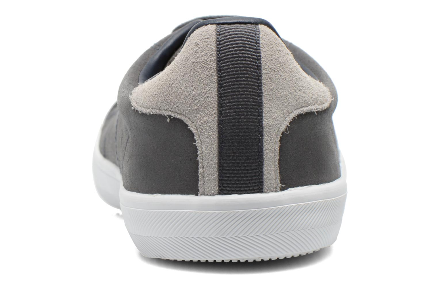 Baskets Fred Perry Howells leather Gris vue droite