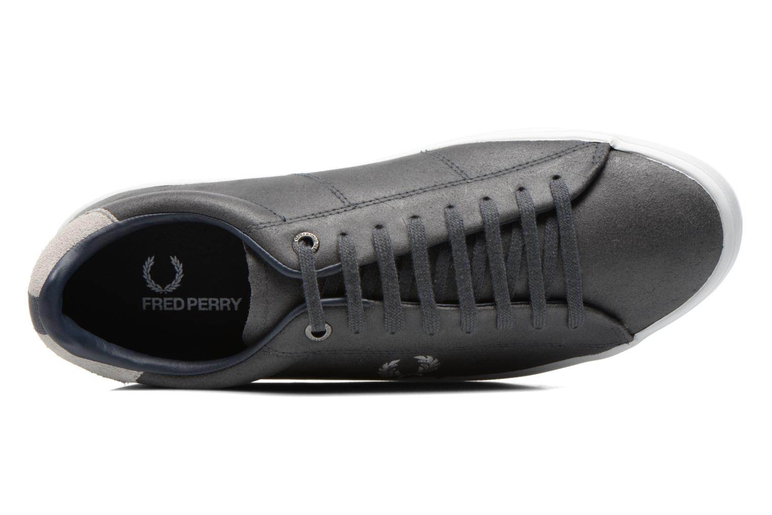 Baskets Fred Perry Howells leather Gris vue gauche
