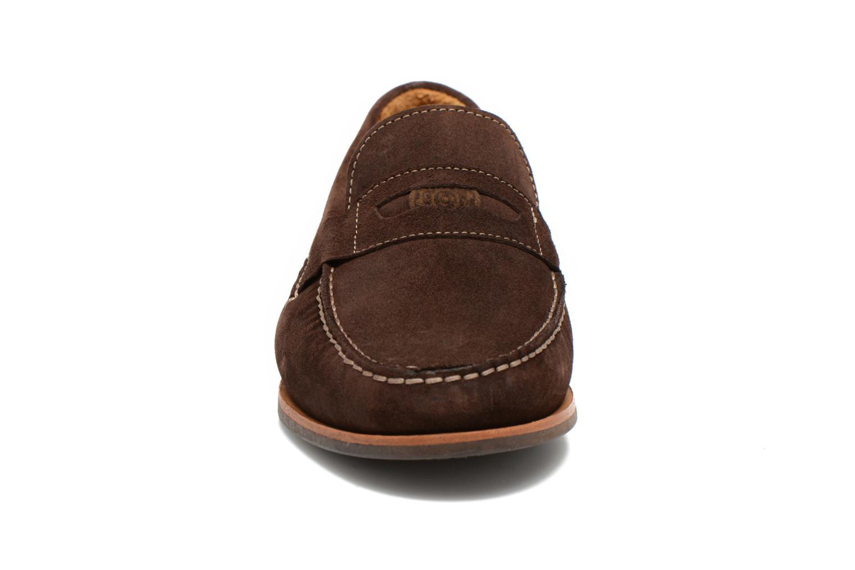 Mocassins Sebago Conrad Penny Marron vue portées chaussures