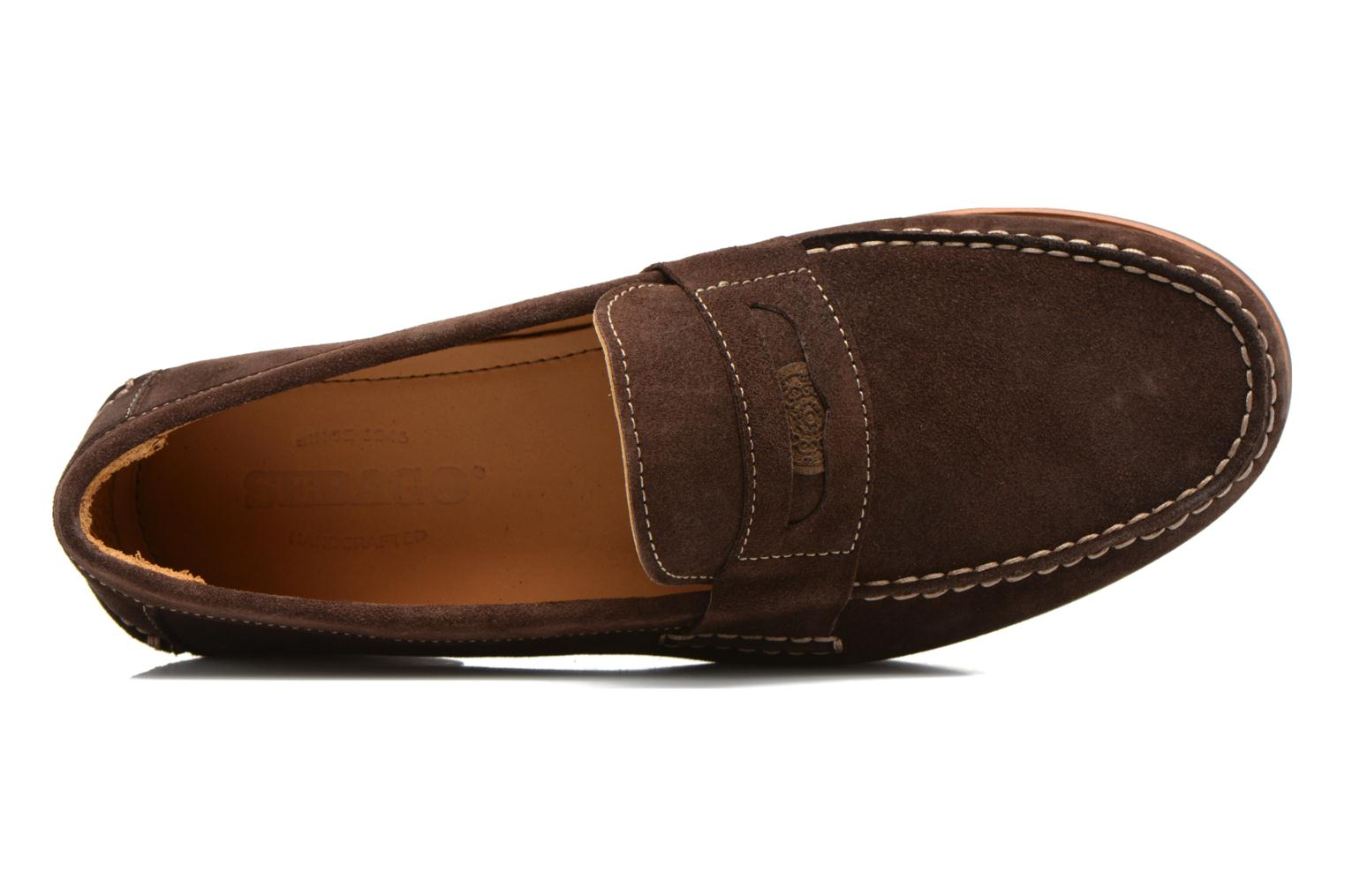 Conrad Penny Dark Brown Suede