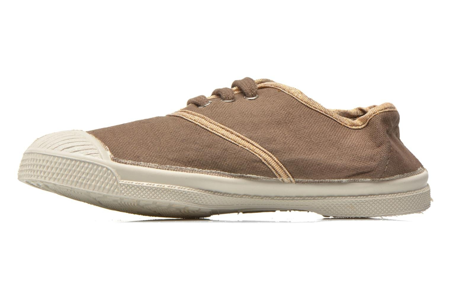 Sneakers Bensimon Tennis Lacets Shinypiping E Bruin voorkant