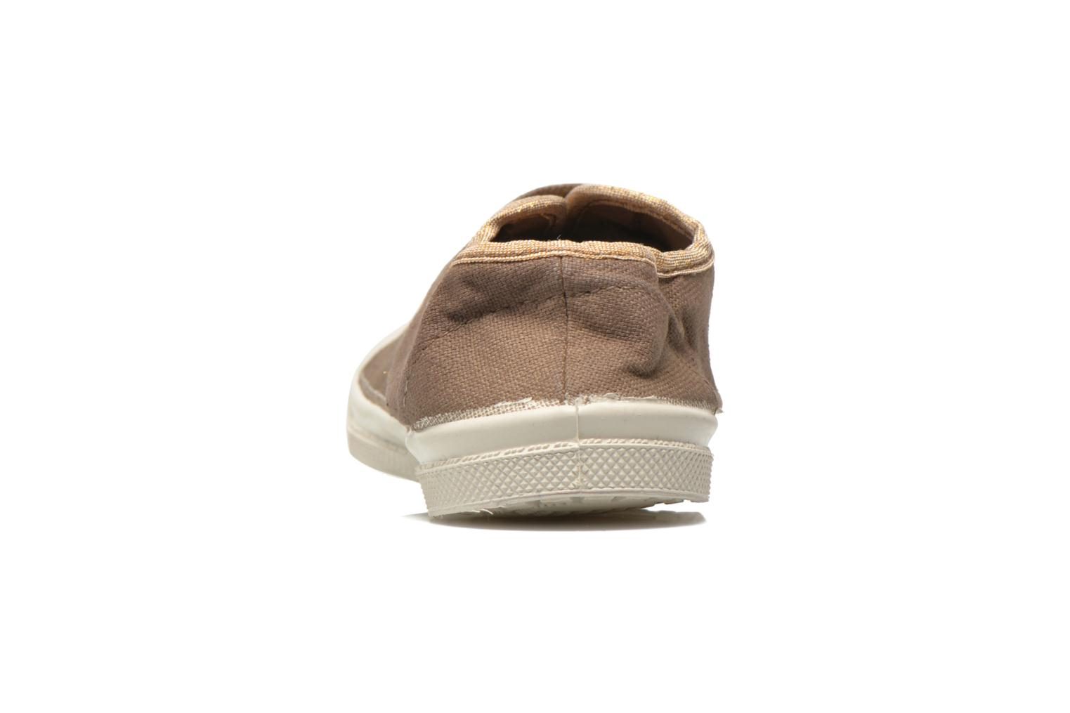 Trainers Bensimon Tennis Lacets Shinypiping E Brown view from the right