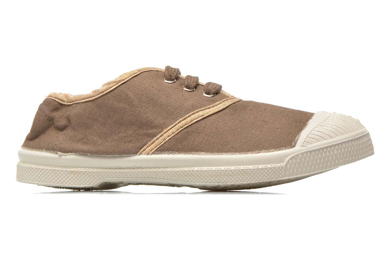 Sneakers Bensimon Tennis Lacets Shinypiping E Bruin achterkant