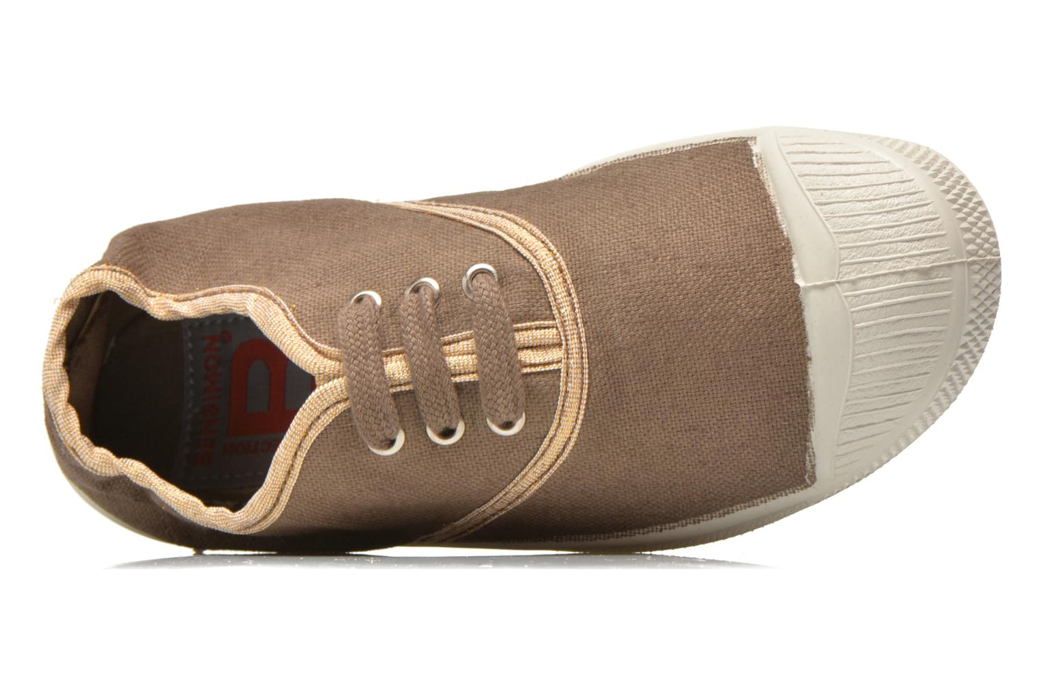 Trainers Bensimon Tennis Lacets Shinypiping E Brown view from the left