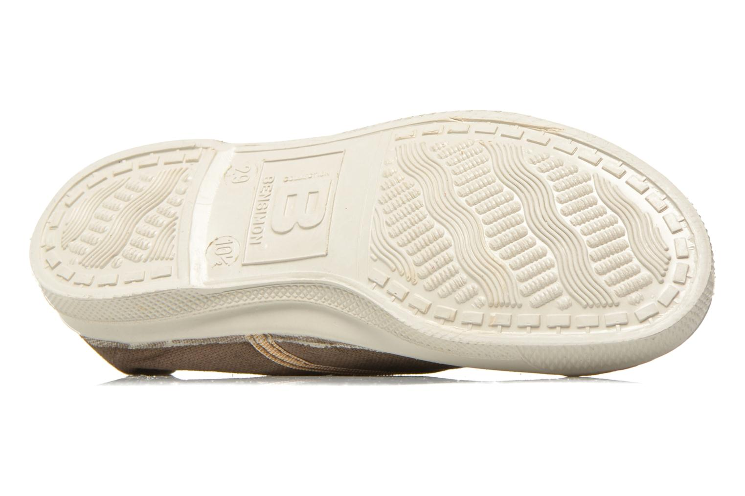 Trainers Bensimon Tennis Lacets Shinypiping E Brown view from above