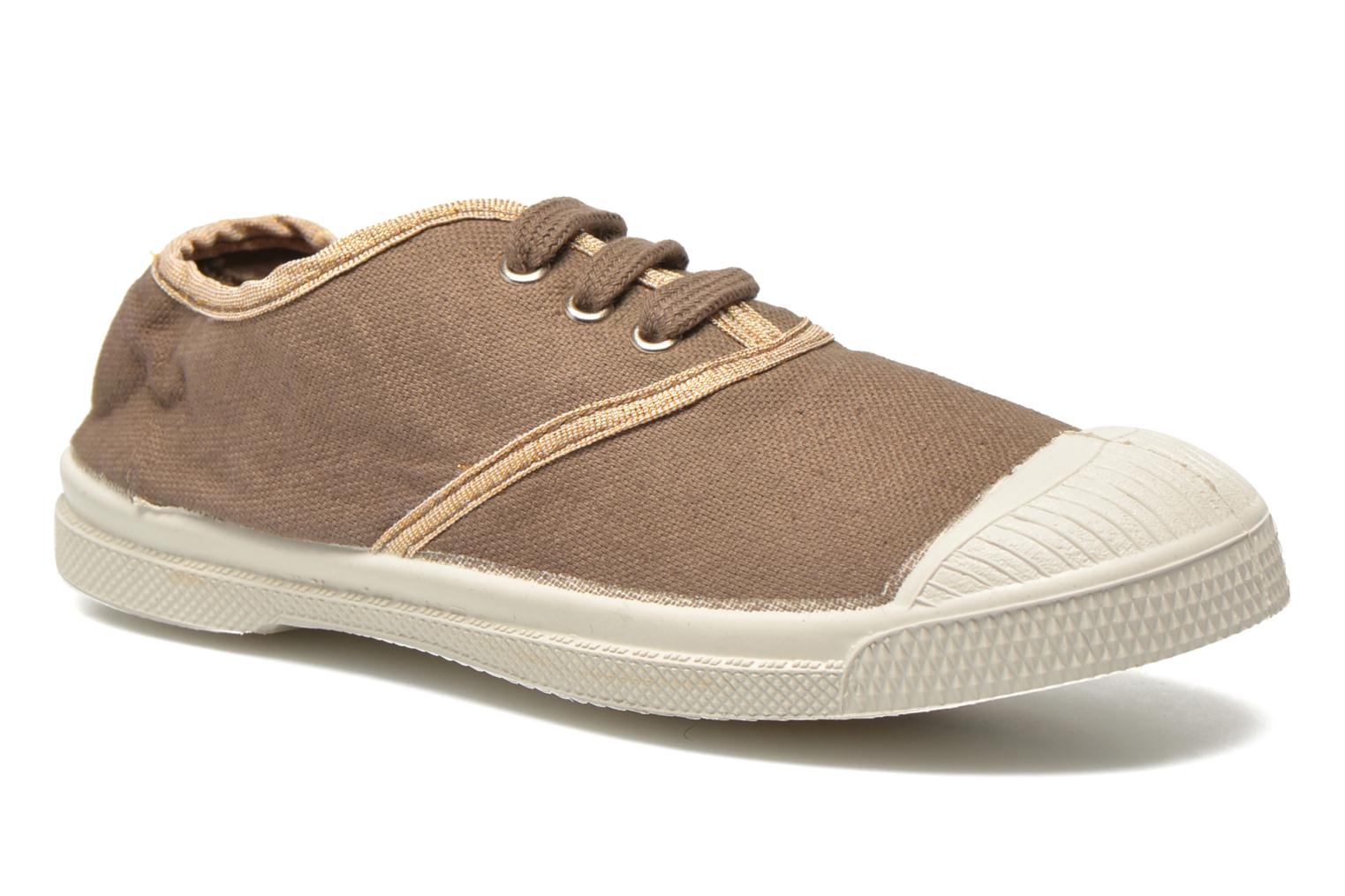 Trainers Bensimon Tennis Lacets Shinypiping E Brown detailed view/ Pair view