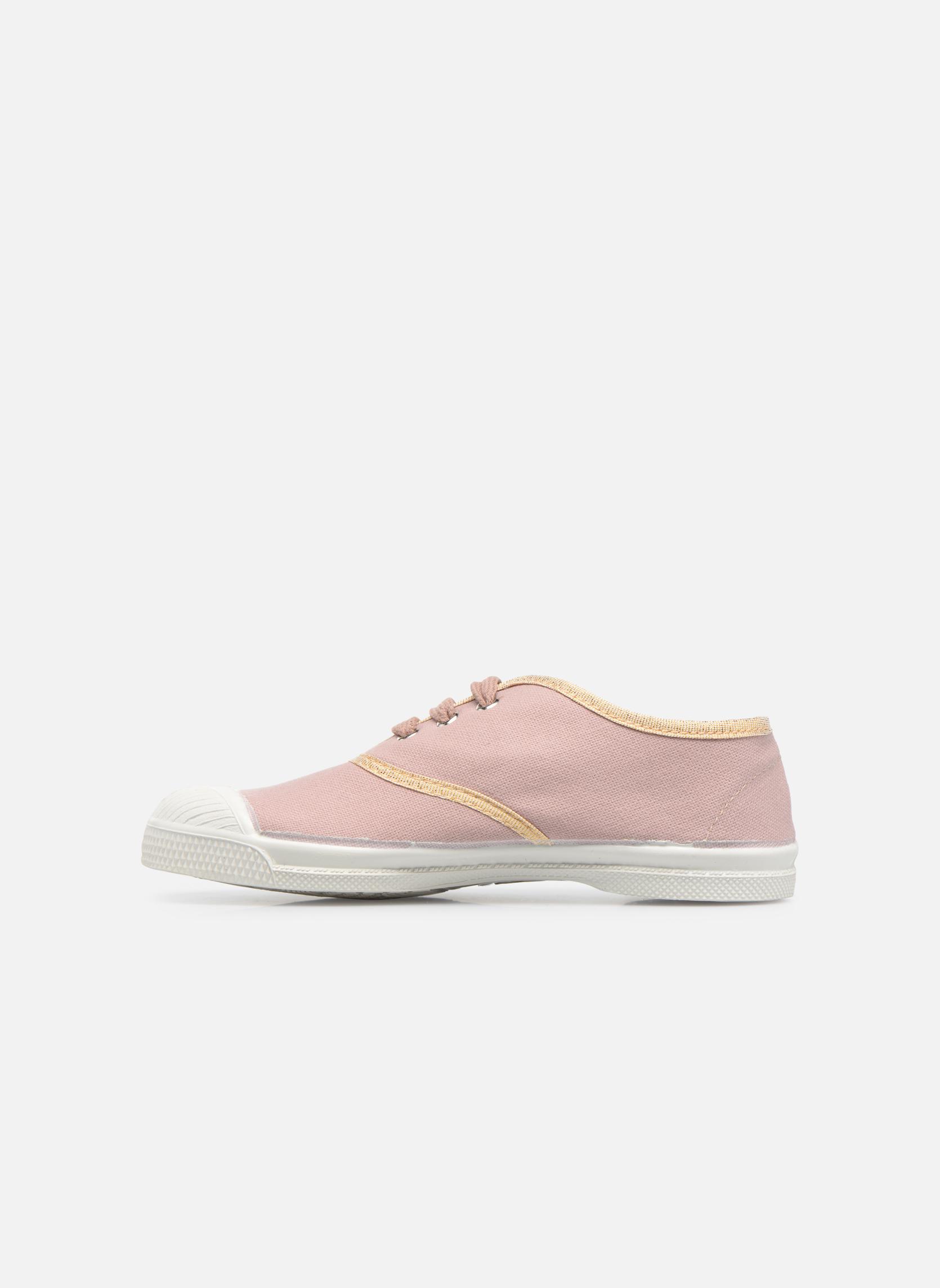 Sneaker Bensimon Tennis Lacets Shinypiping E rosa ansicht von vorne