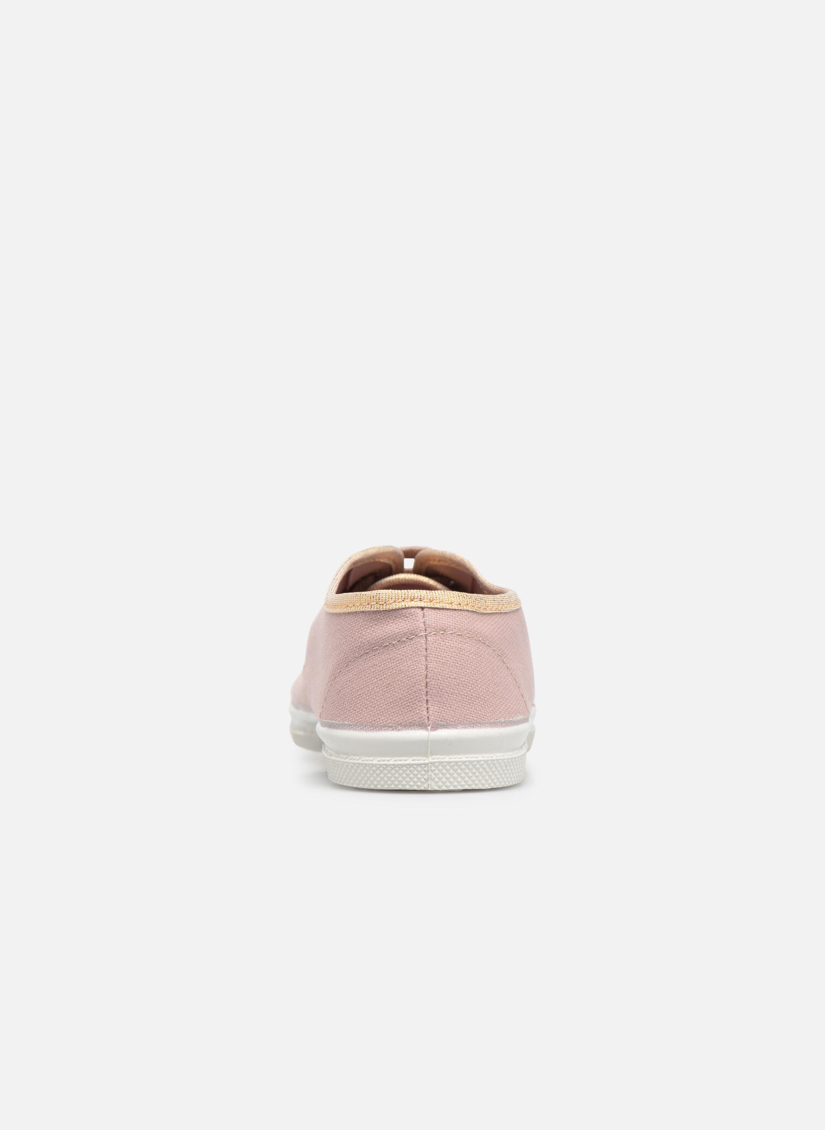 Sneaker Bensimon Tennis Lacets Shinypiping E rosa ansicht von rechts