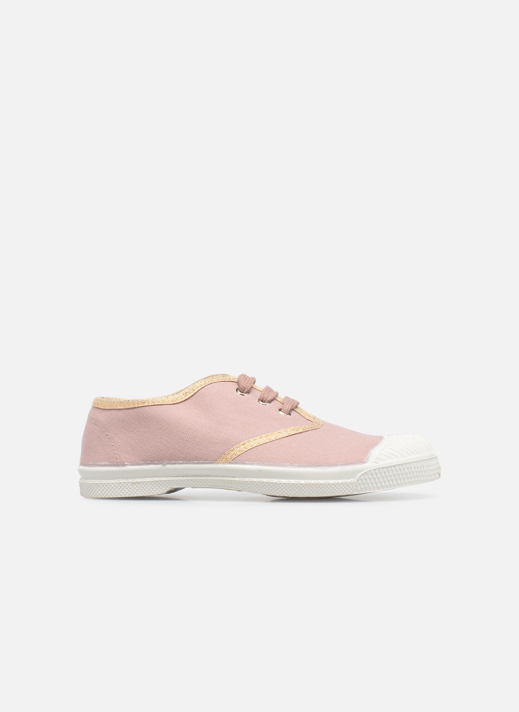 Sneaker Bensimon Tennis Lacets Shinypiping E rosa ansicht von hinten