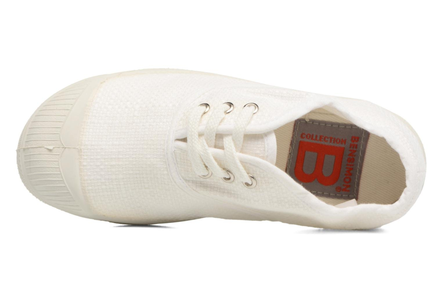 Trainers Bensimon Tennis Lin E White view from the left