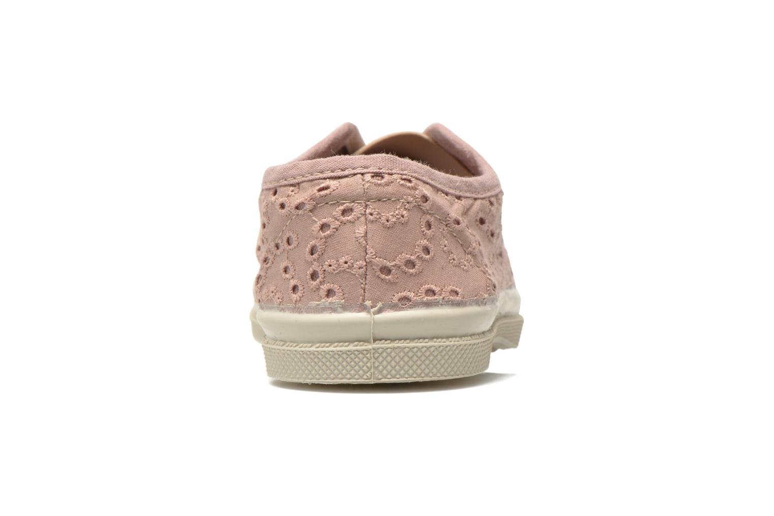 Trainers Bensimon Tennis Elly Broderie Anglaise E Pink view from the right