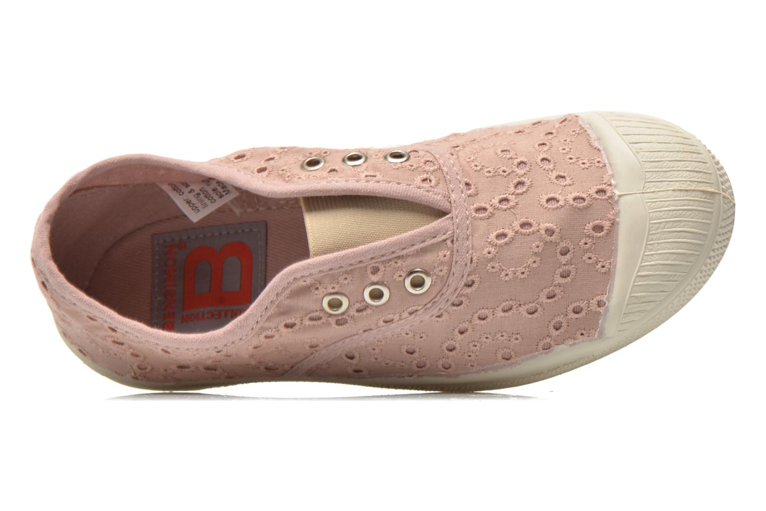 Trainers Bensimon Tennis Elly Broderie Anglaise E Pink view from the left