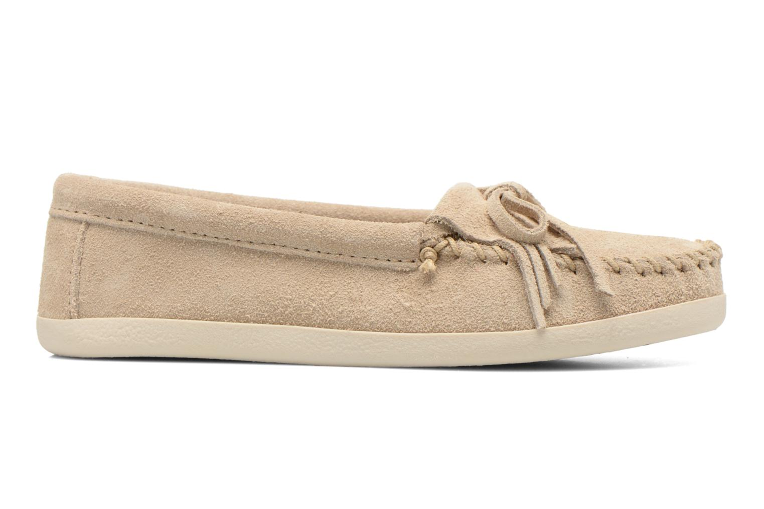 Loafers Minnetonka Newport Moc Beige back view