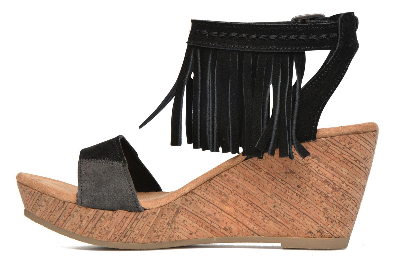 Sandalen Minnetonka Poppy schwarz ansicht von vorne