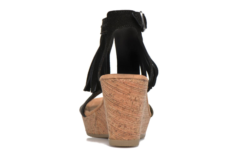 Sandales et nu-pieds Minnetonka Poppy Noir vue droite