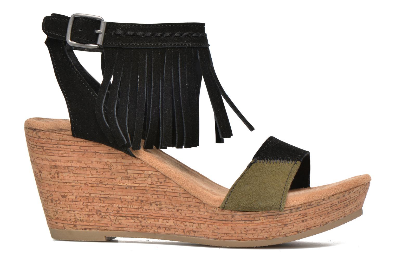 Sandales et nu-pieds Minnetonka Poppy Noir vue derrière