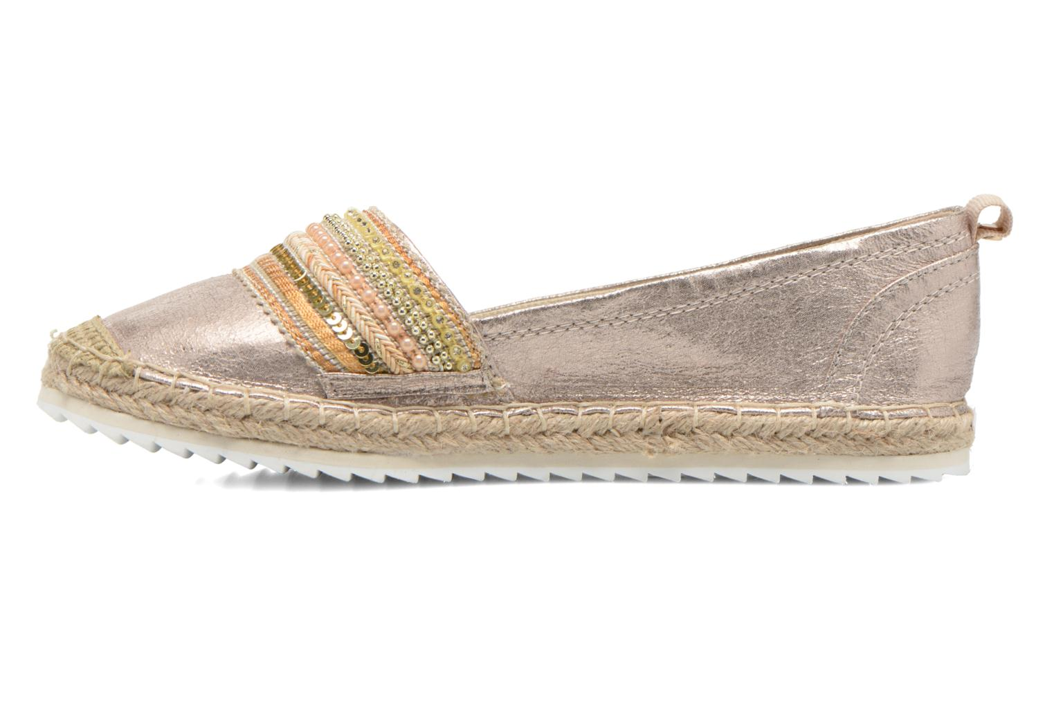 Espadrilles Bullboxer Pemito Bronze and Gold front view