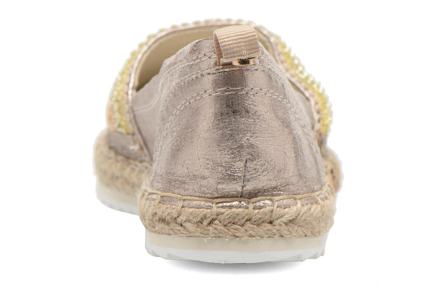 Espadrilles Bullboxer Pemito Bronze and Gold view from the right