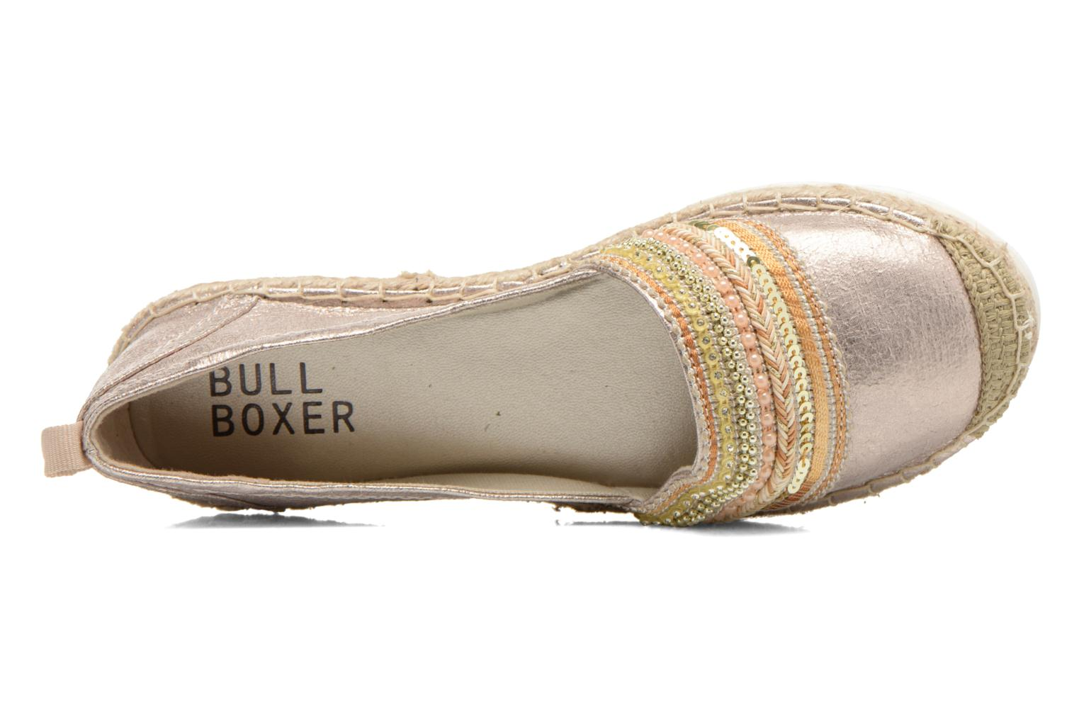 Espadrilles Bullboxer Pemito Bronze and Gold view from the left