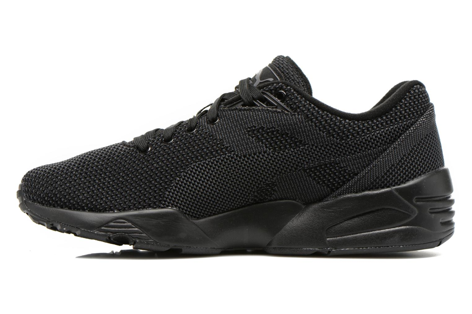Baskets Puma R698 Knit Mesh V2.2 Trinomic Noir vue face
