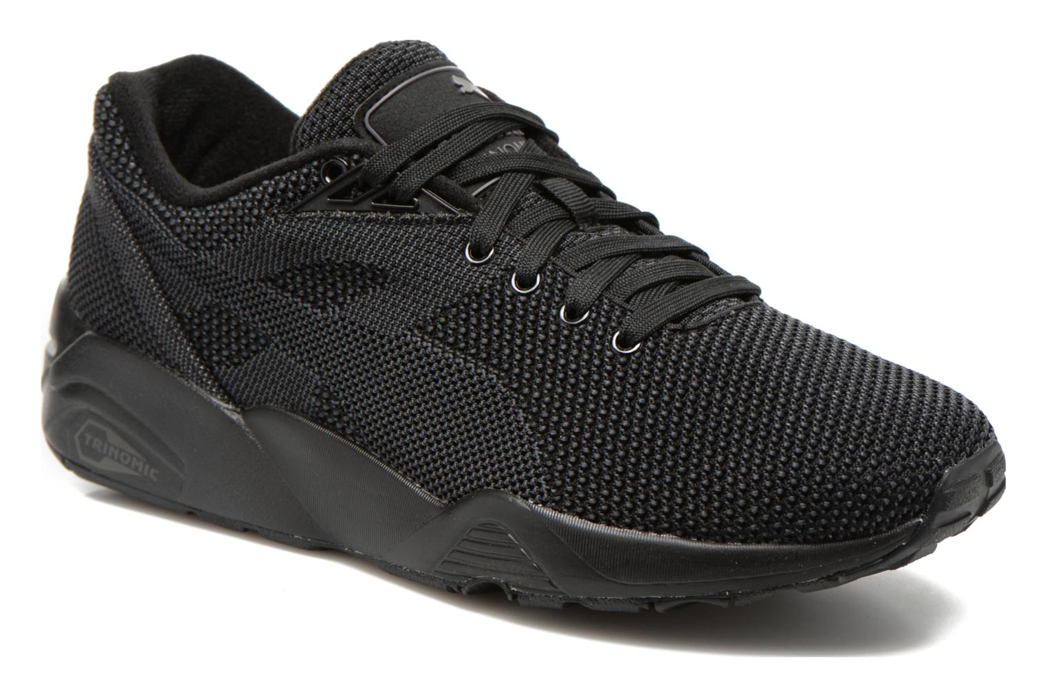 Trainers Puma R698 Knit Mesh V2.2 Trinomic Black detailed view/ Pair view