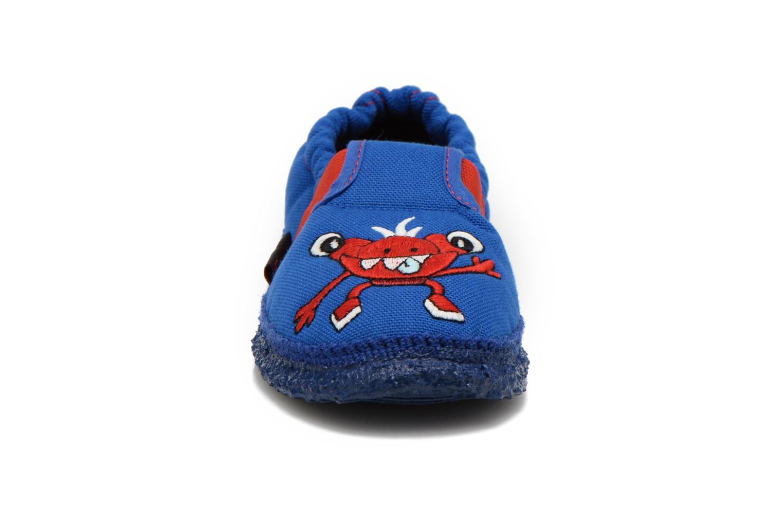 Chaussons Giesswein Aufhausen Bleu vue portées chaussures