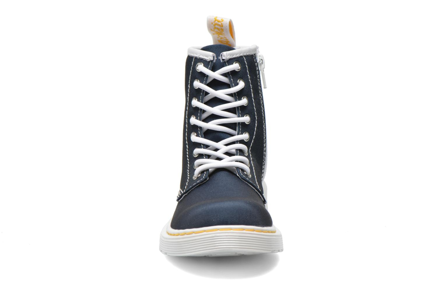 Juniors Delaney Lace Boot Canvas Navy T Canvas