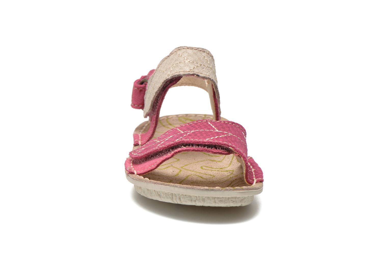 Sandales et nu-pieds El Naturalista Kiri 5E-284 Rose vue portées chaussures