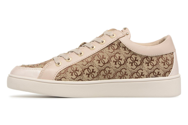 Sneaker Guess Glinna beige ansicht von vorne