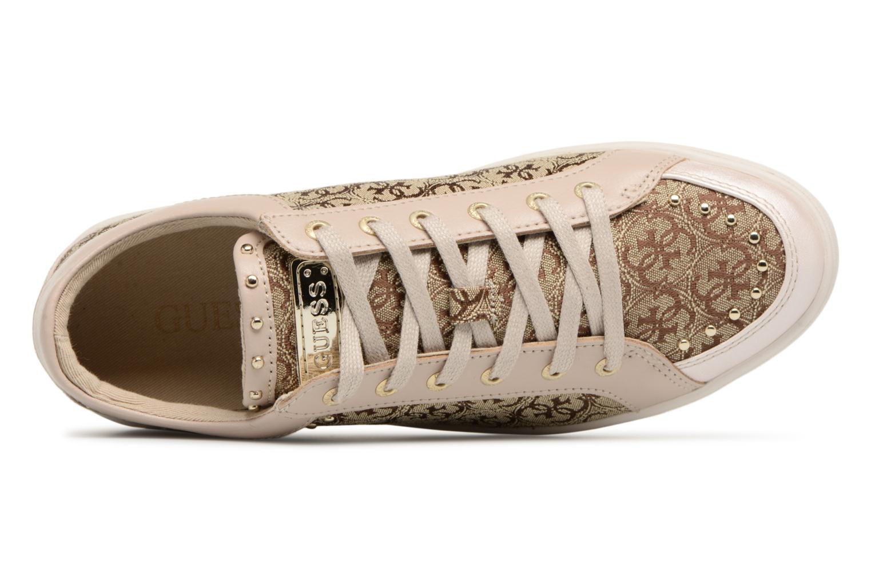 Sneaker Guess Glinna beige ansicht von links