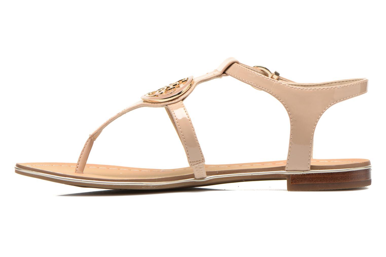 Sandales et nu-pieds Guess Roxxie Beige vue face