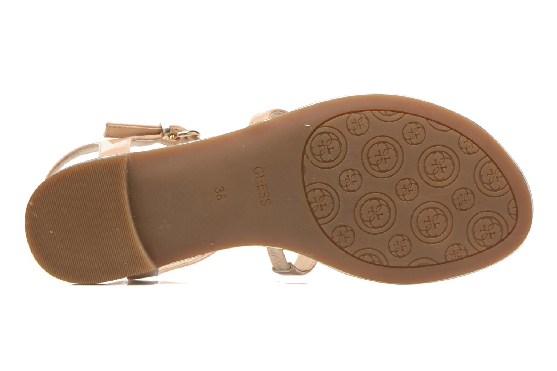 Sandales et nu-pieds Guess Roxxie Beige vue haut