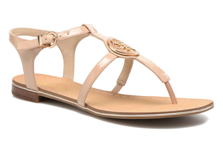 Sandales et nu-pieds Guess Roxxie Beige vue détail/paire