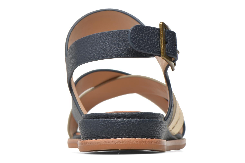 Pyxsis Sandal Navy L. Gold