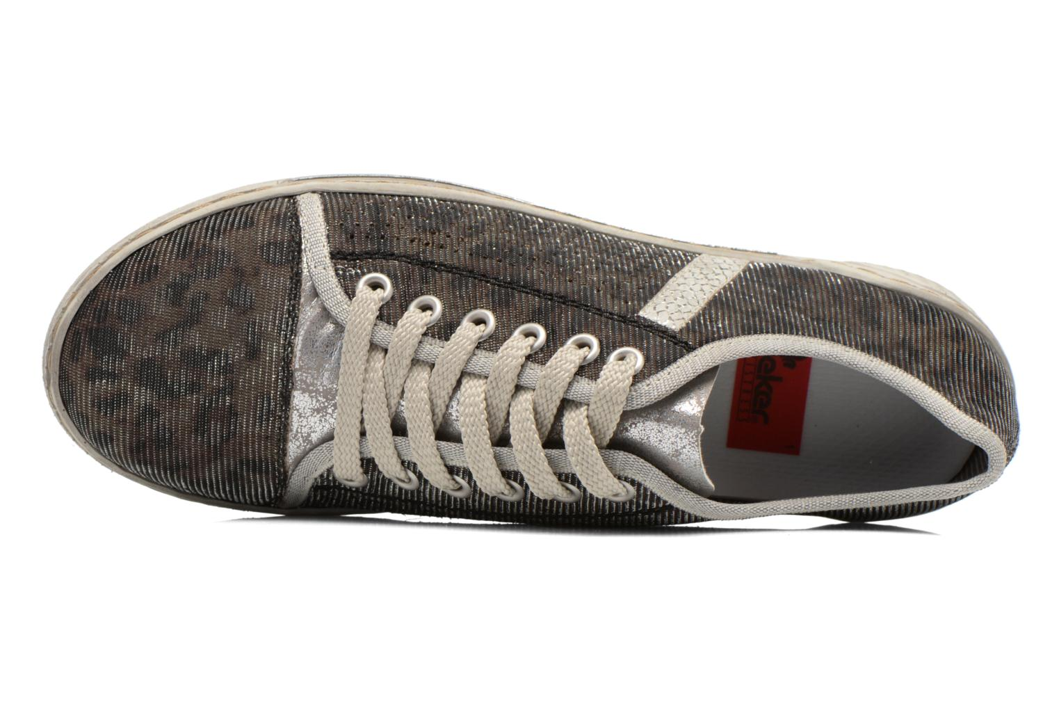 Trainers Rieker Speed 42417 Silver view from the left