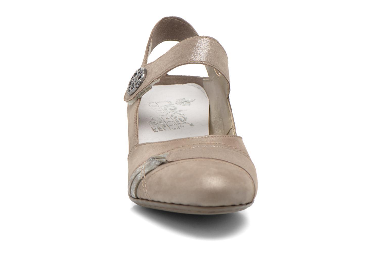 Escarpins Rieker Rosette 45062 Beige vue portées chaussures