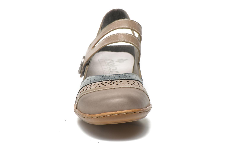 Sandalen Rieker Flow 47185 beige schuhe getragen