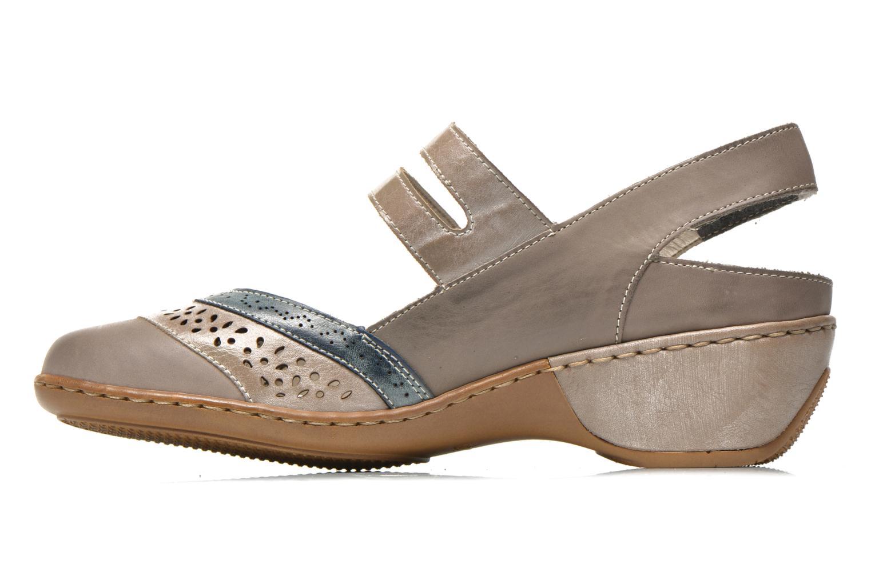 Sandals Rieker Flow 47185 Beige front view
