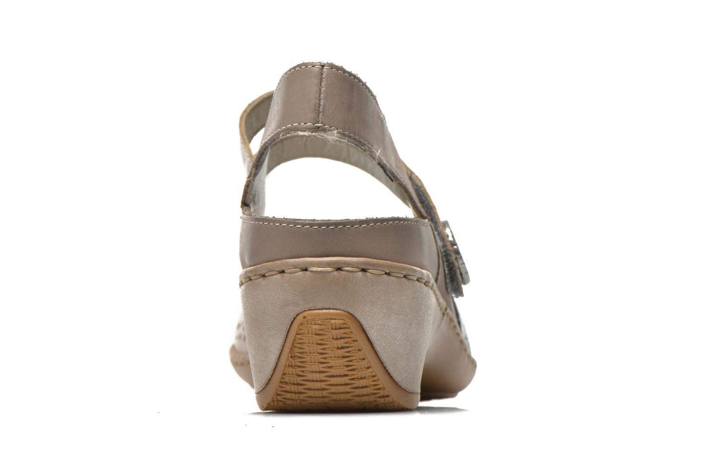 Sandales et nu-pieds Rieker Flow 47185 Beige vue droite