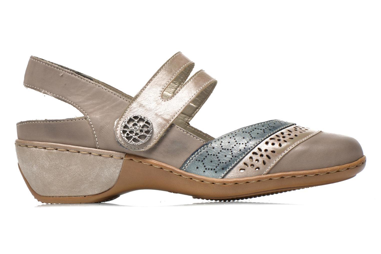 Sandales et nu-pieds Rieker Flow 47185 Beige vue derrière