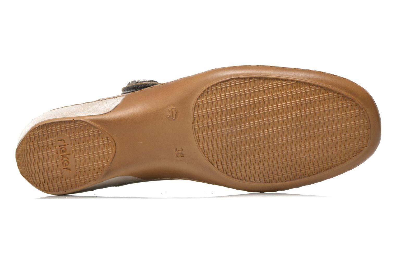 Sandales et nu-pieds Rieker Flow 47185 Beige vue haut