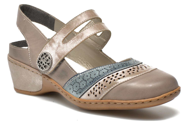 Sandales et nu-pieds Rieker Flow 47185 Beige vue détail/paire