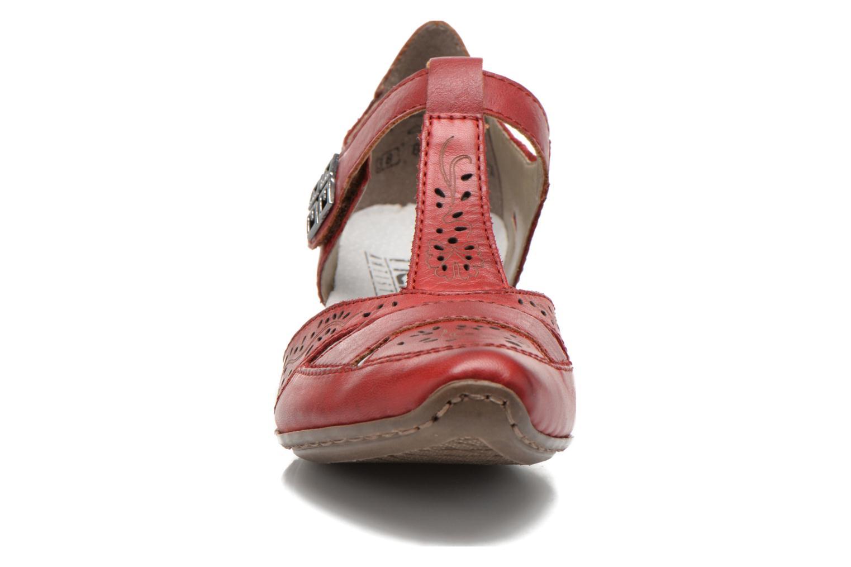 Escarpins Rieker Aimee 49798 Rouge vue portées chaussures