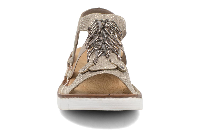 Sandalen Rieker Chop 60062 gold/bronze schuhe getragen